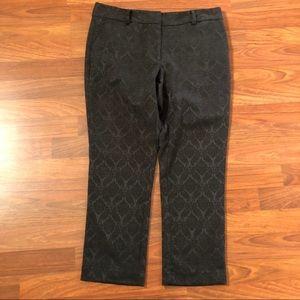 Ann Taylor Petite Signature Black Ankle Pants 6P